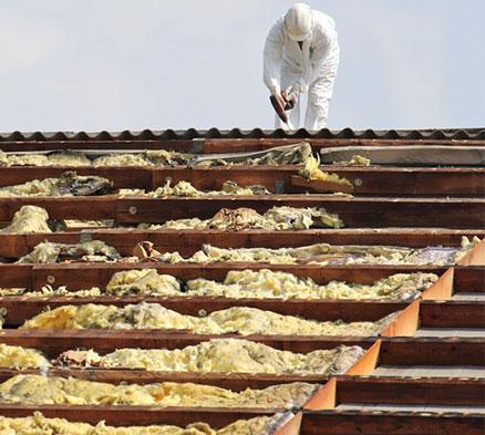 schwach gebundenes asbest